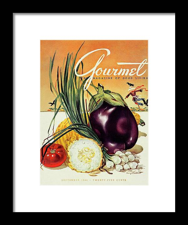 Food Framed Print featuring the photograph A Gourmet Cover Of Vegetables by Henry Stahlhut
