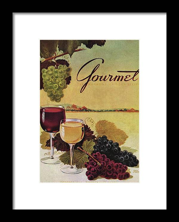Exterior Framed Print featuring the photograph A Gourmet Cover Of Wine by Henry Stahlhut