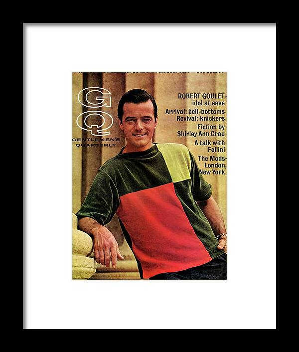 Entertainment Framed Print featuring the photograph A Gq Cover Of Robert Goulet by Leonard Nones