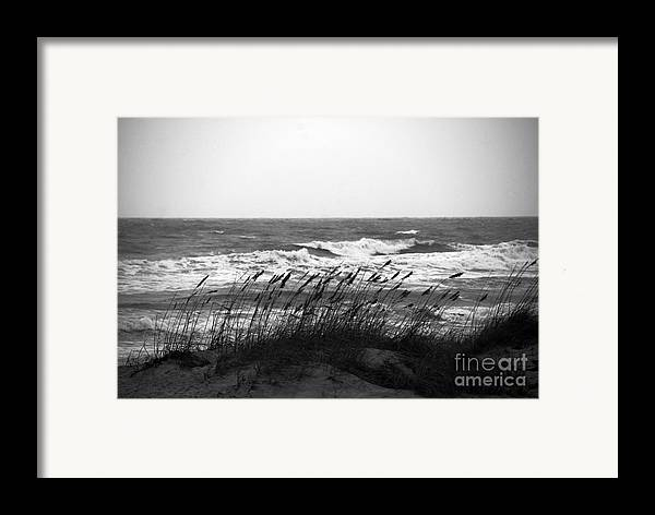 Waves Framed Print featuring the photograph A Gray November Day At The Beach by Susanne Van Hulst
