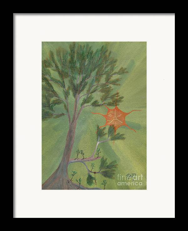 Watercolor Framed Print featuring the painting A Great Tree Grows by Robert Meszaros
