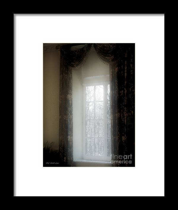 Curtains Framed Print featuring the painting A Hazy Shade Of Winter by RC DeWinter