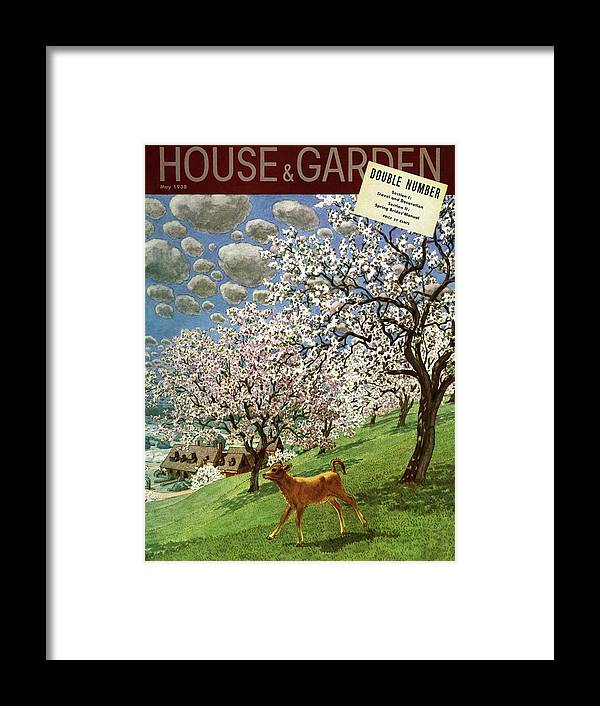 Illustration Framed Print featuring the photograph A House And Garden Cover Of A Calf by Pierre Brissaud