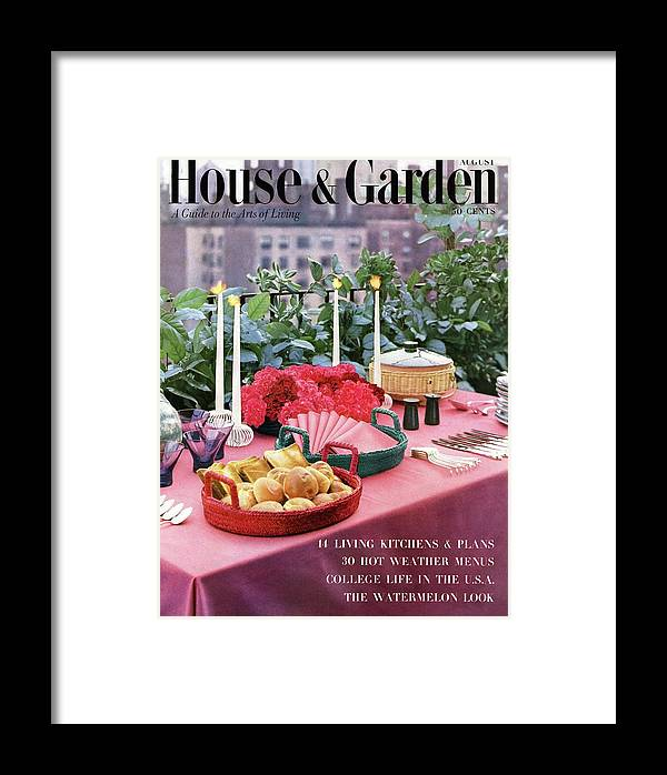 Travel Framed Print featuring the photograph A House And Garden Cover Of Al Fresco Dining by Wiliam Grigsby