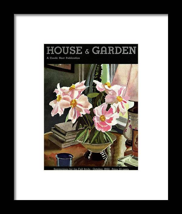 Illustration Framed Print featuring the photograph A House And Garden Cover Of Rhododendrons by David Payne