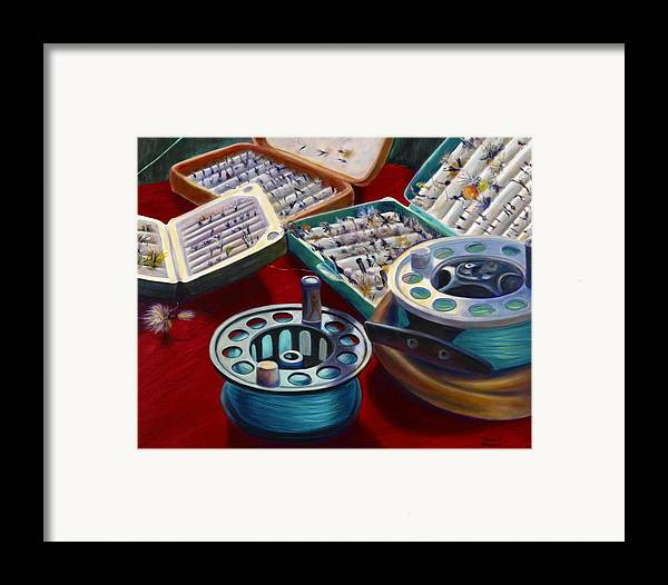 Still Life Framed Print featuring the painting A Howard Runs Through It by Shannon Grissom
