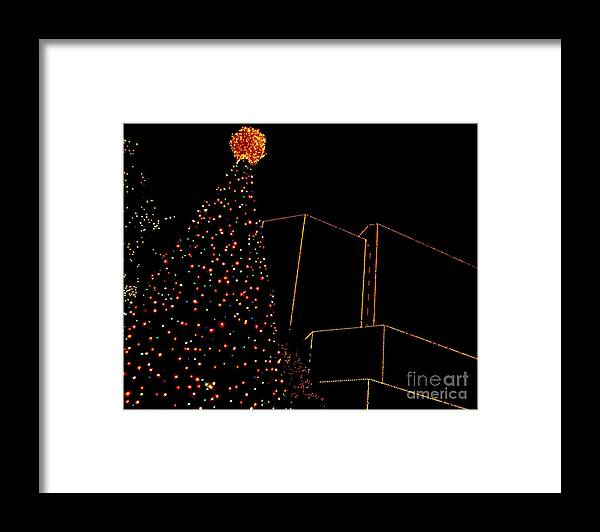 Rva Framed Print featuring the photograph A James Center Christmas by Nancy Dole McGuigan