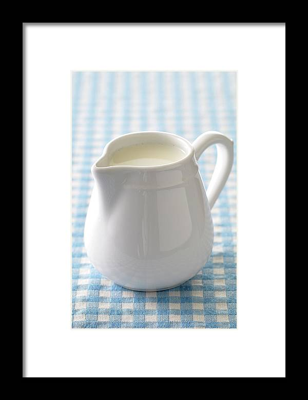 Single Object Framed Print featuring the photograph A Jug Of Cream by Riou