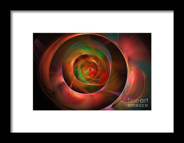 Opalescence Framed Print featuring the digital art A Kind Of Inner Opalescence by Elizabeth McTaggart