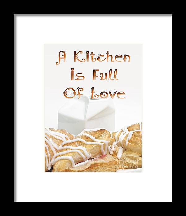 Milk Framed Print featuring the digital art A Kitchen Is Full Of Love 11 by Andee Design