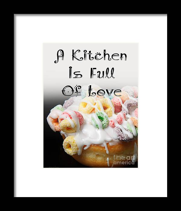 Fruit Loops Framed Print featuring the digital art A Kitchen Is Full Of Love 14 by Andee Design