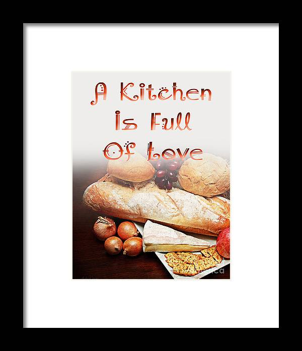 Bread Framed Print featuring the digital art A Kitchen Is Full Of Love 15 by Andee Design