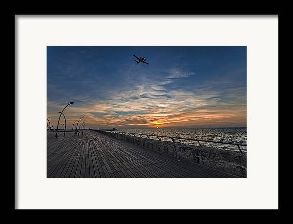 Israel Framed Print featuring the photograph a kodak moment at the Tel Aviv port by Ron Shoshani