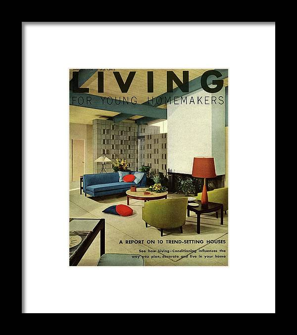 Furniture Framed Print featuring the digital art A Living Room With Carpeting By Callaway by George De Gennaro
