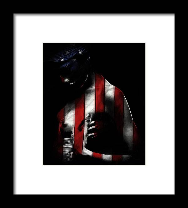 Framed Print featuring the painting A Love Called Liberty by Steve K