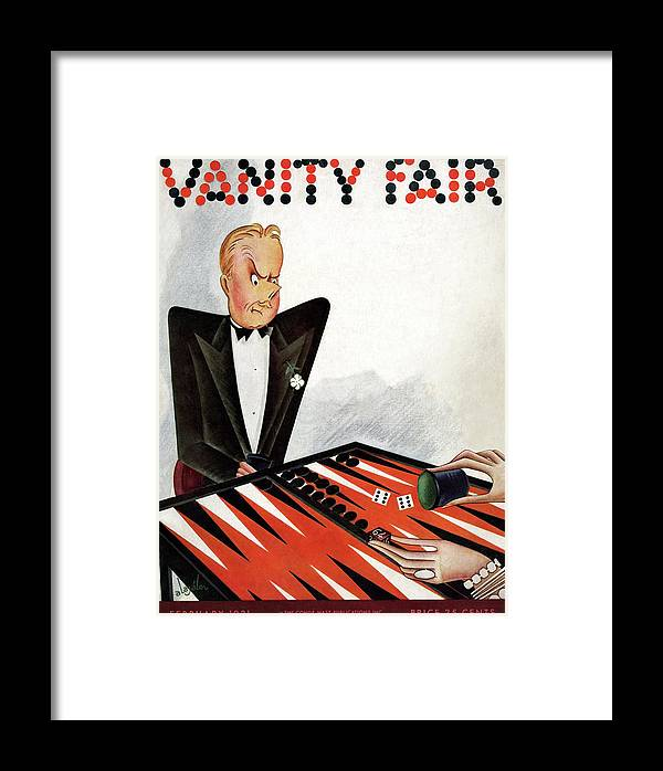 Illustration Framed Print featuring the photograph A Magazine Cover For Vanity Fair by Constantin Alajalov