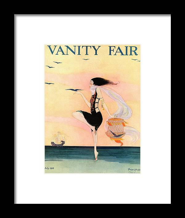 Animal Framed Print featuring the photograph A Magazine Cover For Vanity Fair Of A Woman by Rita Senger