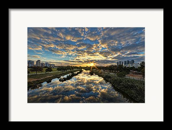 Israel Framed Print featuring the photograph A Magical Marshmallow Sunrise by Ron Shoshani