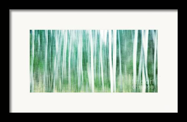 Abstract Framed Print featuring the photograph A Matter Of Blues by Priska Wettstein