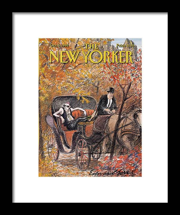 Artkey 50687 Eso Framed Print featuring the painting New Yorker October 5th, 1992 by Edward Sorel