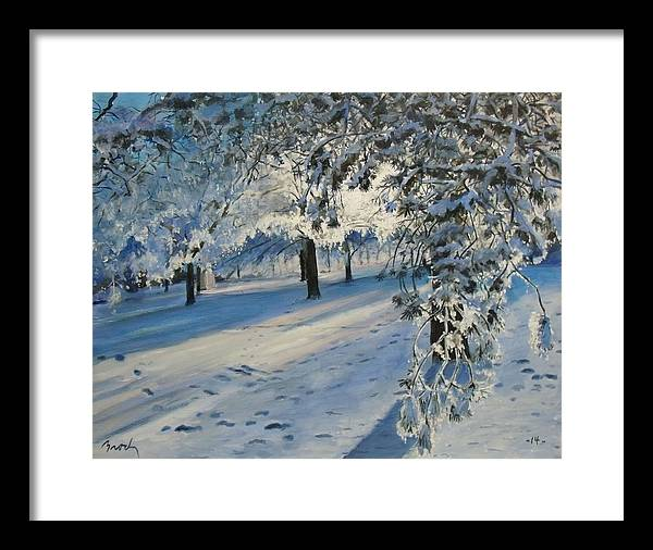 Landscape Framed Print featuring the painting A Moment Of Treasure by William Brody