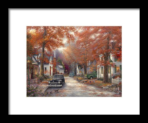 Americana Framed Print featuring the painting A Moment On Memory Lane by Chuck Pinson