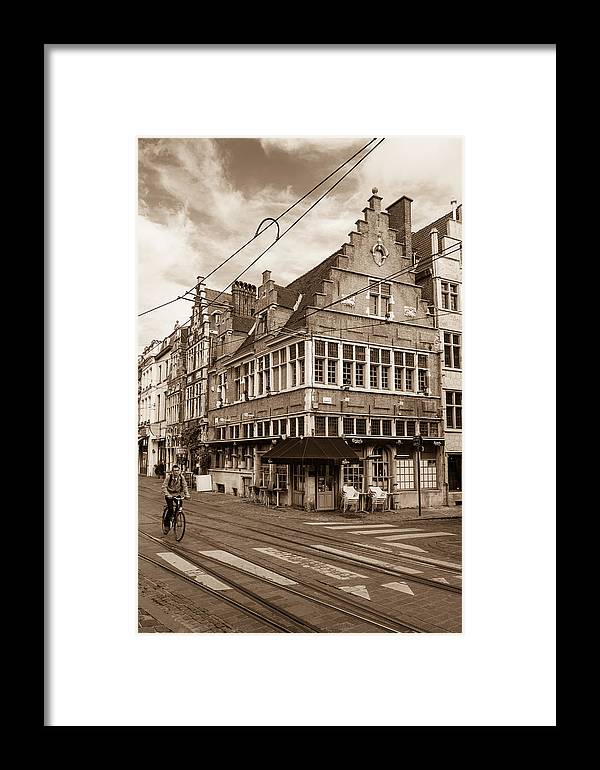 European Framed Print featuring the photograph A Morning In Ghent by W Chris Fooshee