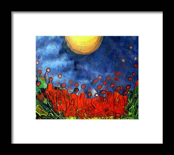 Sun Framed Print featuring the painting A New Day by Pilar Martinez-Byrne