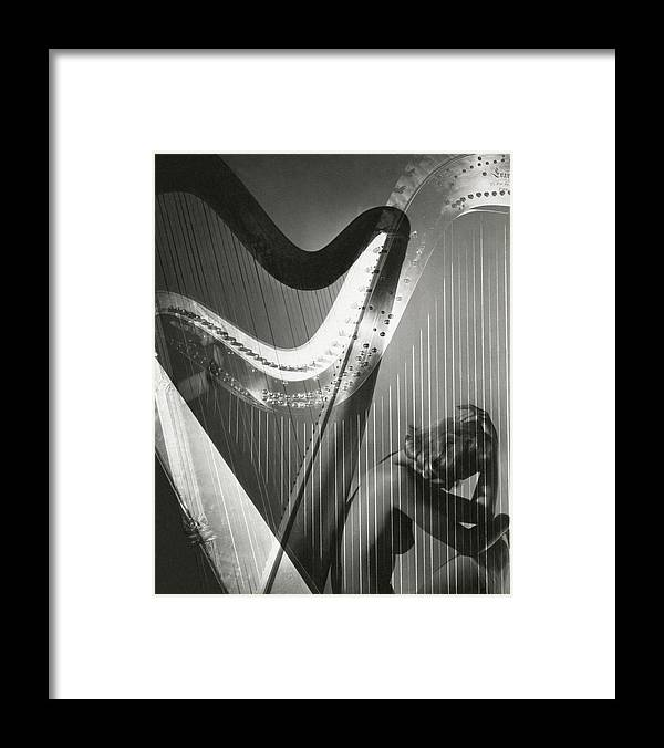 Lisa Fonssagrives Framed Print featuring the photograph A Nude Portrait Of Lisa Fonssagrives by Horst P. Horst