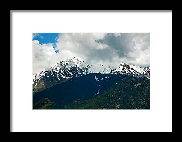 Landscapes Framed Print featuring the photograph A Patch Of Blue. by Randall Templeton