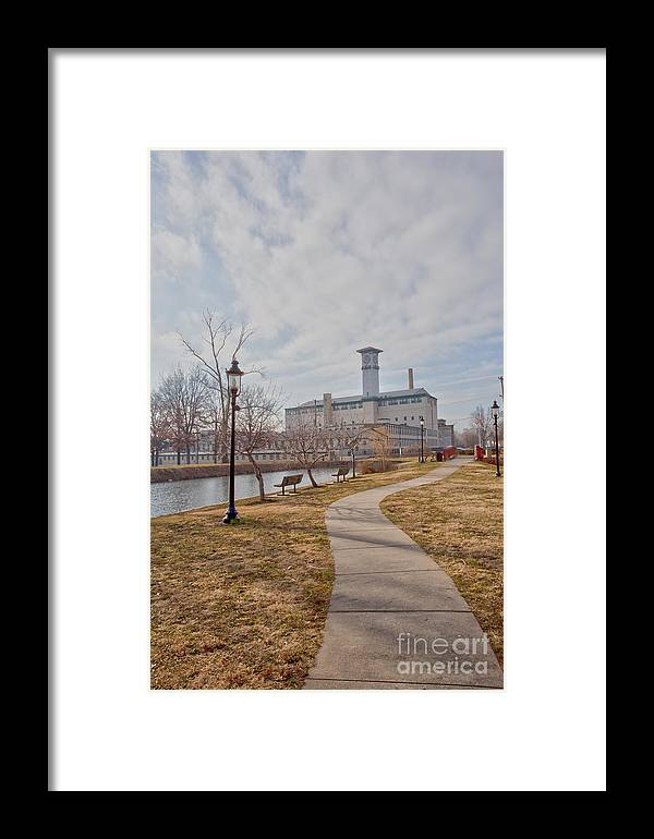 Grundy Mills Complex Framed Print featuring the photograph A Path To The Factory by Tom Gari Gallery-Three-Photography