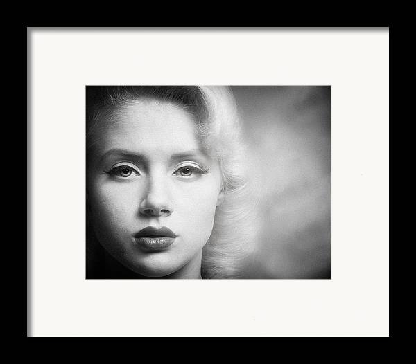 Portrait Framed Print featuring the photograph a place in time Mosh by Gary Heller