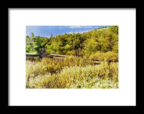 Outdoors Framed Print featuring the digital art A Place Of Serenity I by Kenneth Montgomery