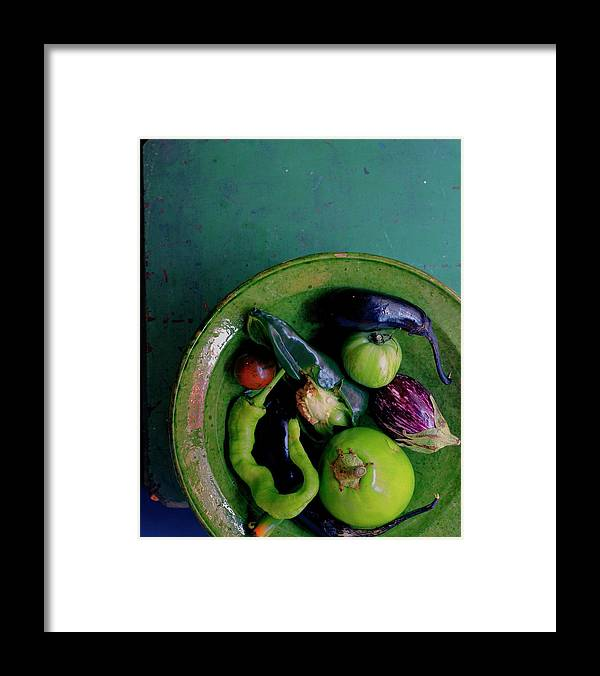 Fruits Framed Print featuring the photograph A Plate Of Vegetables by Romulo Yanes