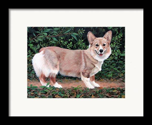 Dog Framed Print featuring the painting A Portrait Of Pickle by Sandra Chase