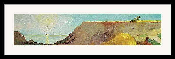Torrey Pines Framed Print featuring the painting A Private Spot by Joseph Demaree