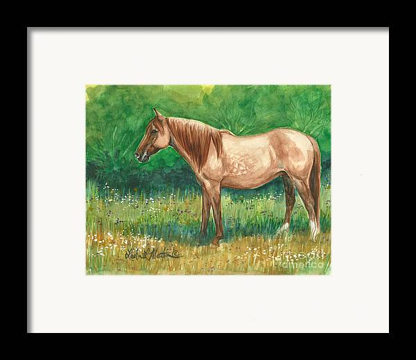 Framed Print featuring the painting A Quiet Place by Linda L Martin