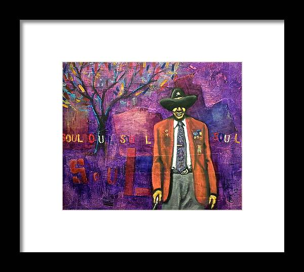 Buffalo Soldier Framed Print featuring the mixed media A Real Buffalo Soldier by Bryan Tilford