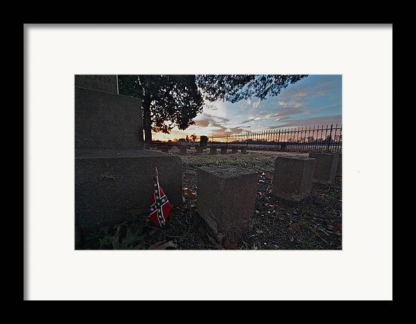 Civil War Photos Framed Print featuring the photograph A Remembrance At Franklin by Kim Kruger