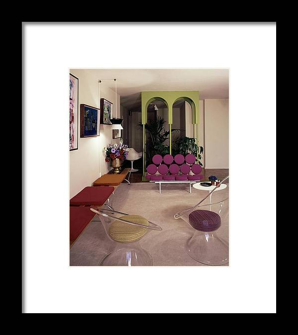 Eugene Tanawa Framed Print featuring the photograph A Retro Living Room by Tom Leonard