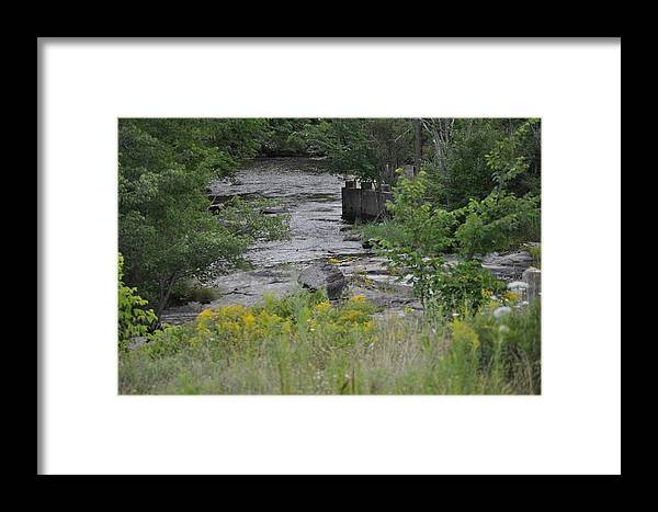 Framed Print featuring the photograph A River Runs Thru by Linda Ogburn