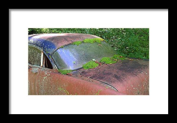 Car Framed Print featuring the photograph A Rolling Car Gathers No Moss by Lew Davis