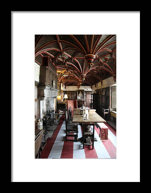 Room Framed Print featuring the photograph A Room In Bunratty Castle by Christiane Schulze Art And Photography