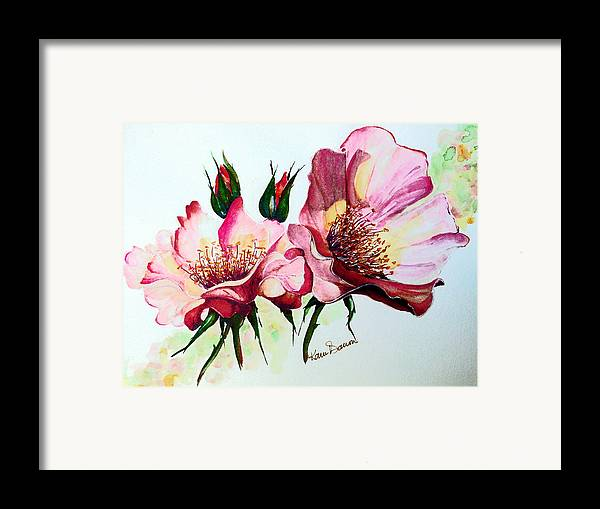 Flower Painting Framed Print featuring the painting A Rose Is A Rose by Karin Dawn Kelshall- Best