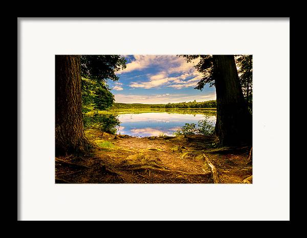 Landscape Framed Print featuring the photograph A Secret Place by Bob Orsillo