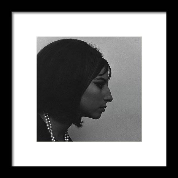 Music Framed Print featuring the photograph A Side View Of Barbra Streisand by Cecil Beaton