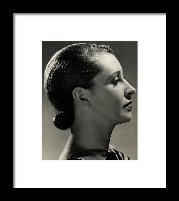 Beauty Framed Print featuring the photograph A Side View Of Marion Morehouse by Nickolas Muray
