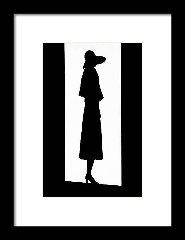 Fashion Framed Print featuring the photograph A Silhouetted Woman by Barre