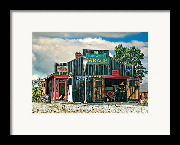 Oil Framed Print featuring the photograph A Simpler Time by Steve Harrington
