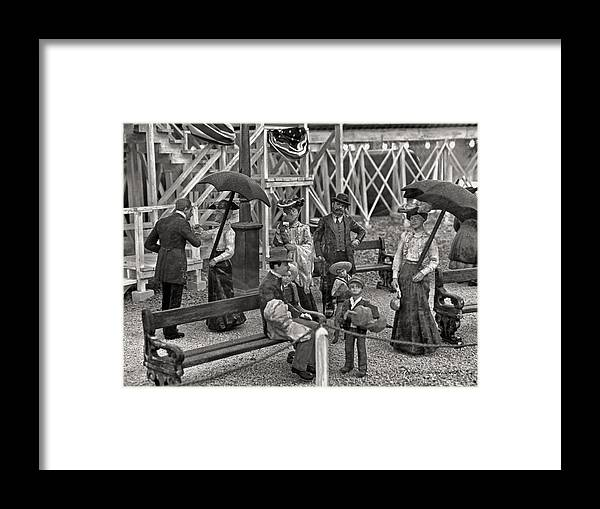 People Framed Print featuring the photograph A Simpler Way Of Life Sunday Afternoon by Thomas Woolworth
